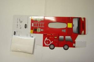 消防車型ボックスティッシュー